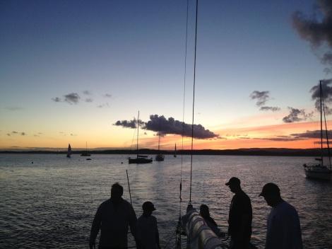 Last twilight sailing on menace for the summer